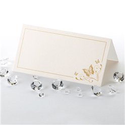 Elegant Butterfly Wedding Place Cards - Gold