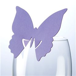 Butterfly Place Cards for Glasses - Lilac