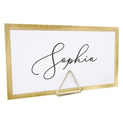Gold Triange Place Card Holders