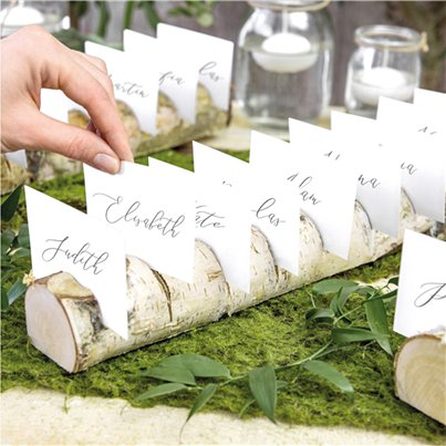 Wooden Log Multi Place Card Holder