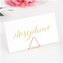 Rose Gold Triange Place Card Holders