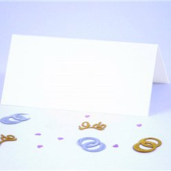 Traditional Wedding Place Cards - White