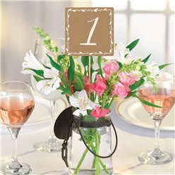 Rustic Wedding Table Number Picks - 30cm