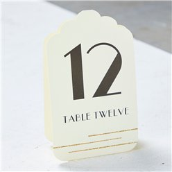Ivory & Gold Table Number Placecards