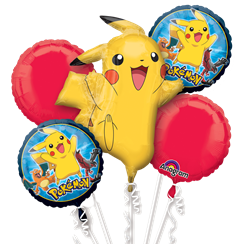 Pokemon Balloon Bouquet - Assorted Foil