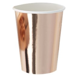 Pick & Mix Rose Gold Foiled Paper Cups - 255ml
