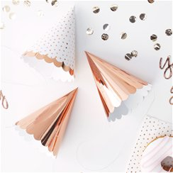 Pick & Mix Rose Gold Foil Party Hats