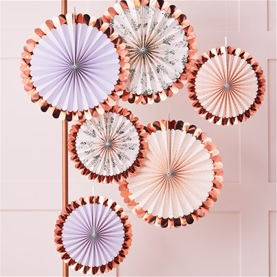 Rose Gold Floral Fan Decoration Kit
