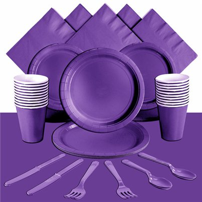 Purple Party Pack For 20 People