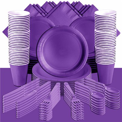 Purple Party Pack For 100 People