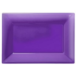 Purple Serving Platters - 23cm x 32cm Plastic