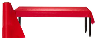 Red Jumbo Plastic Banqueting Roll - 76m