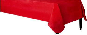 Red Flannel-Backed Vinyl Table Cover - 1.3m x 2.2m