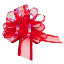Organza Pull Bow - Red