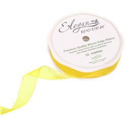 Yellow Organza Ribbon - 20m