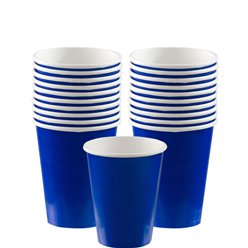 Royal Blue Cups - 266ml Paper