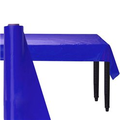 Royal Blue Plastic Banqueting Roll - 30m