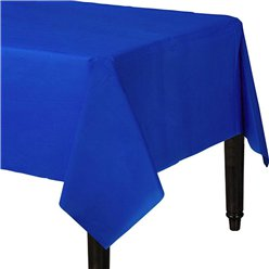 Royal Blue Plastic Tablecover - 1.4m x 2.8m
