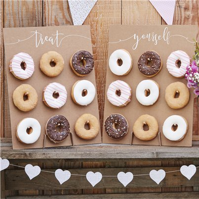 Rustic Country Doughnut Wall