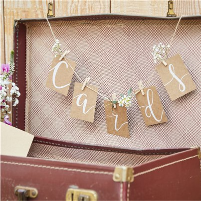 Rustic Country Peg & String Hanging Card Kit - 1m