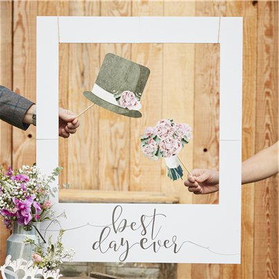 Rustic Country 'Best Day Ever' Giant Polaroid Photo Prop Sign