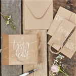 Rustic Country Save The Date Invitations