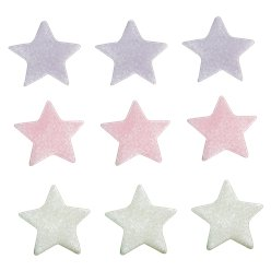 Lilac, Pink & White Star Sugar Toppers