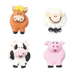 Farmyard Sugar Toppers - Cake Decorations