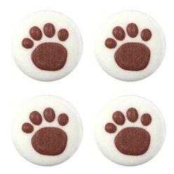 Paw Prints Sugar Cake Toppers - 12pk