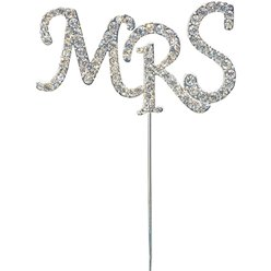 Mrs Diamante Cake Pick