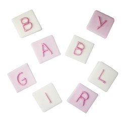Baby Girl Letters Sugar Cake Decorations