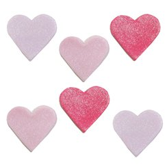 Shimmer Heart Sugar Toppers