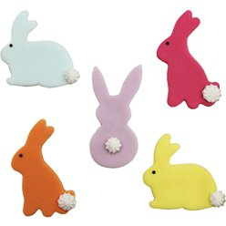 Bunny Rabbit Sugar Toppers - Cake Decorations