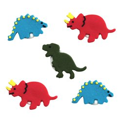 Dinosaur Sugar Toppers - Cake Decorations