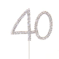 40th Birthday / Anniversary Diamante Cake Pick