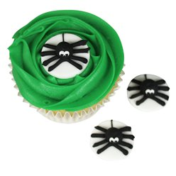 Spider Sugar Cake Decorations - 3cm