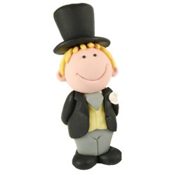 Blonde Groom Cake Topper Figure