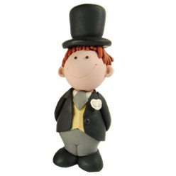 Brunette Groom Cake Topper Figure