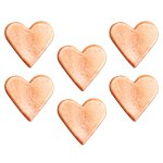 Rose Gold Shimmering Hearts Sugar Decorations - Cake Decorations
