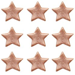 Rose Gold Stars Sugar Cake Toppers - 9pk