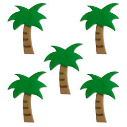 Tropical Palm Tree Sugar Toppers - Cake Decorations