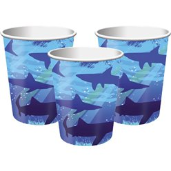 Shark Splash Party Paper Cups 256ml