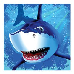 Shark Splash Party Paper Luncheon Napkins 3ply