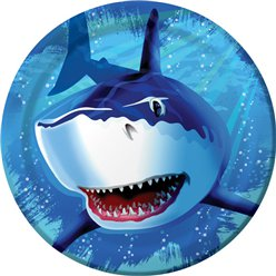 Shark Splash Party Paper Plates 23cm