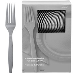 Silver Reusable Forks - 100pk