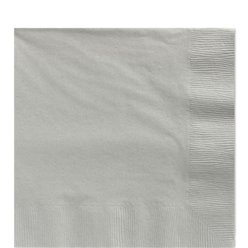 Silver Luncheon Napkins - 33cm Square 2ply Paper