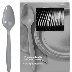 Silver Reusable Spoons - 100pk
