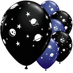 "Space Print Balloons - 11"" Latex"