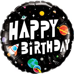 "Space Birthday Balloon - 18"" Foil"