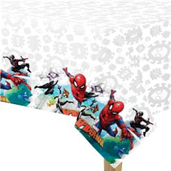 Spiderman Team Up Plastic Tablecover - 1.8m